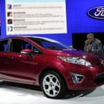 Yehya Mohamed with New 2011 Ford Fiesta at 2009 LA Auto Show